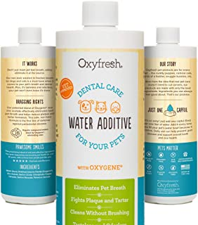 Oxyfresh Premium Pet Dental Care Solution Pet Water Additive: Best Way to Eliminate Bad Dog Breath and Cat Breath - Fights...