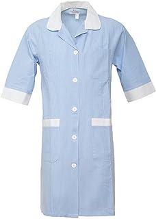 Angiolina Camice Medico da Donna Sciancrato 100/% Cotone con Elastico ai Polsi MV0601
