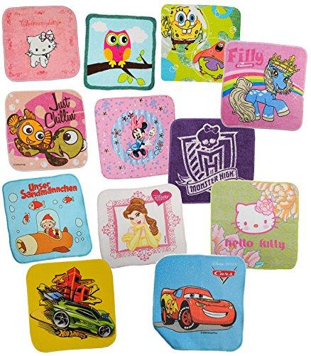 3 Stück: Waschflecken / Waschlappen - für Mädchen - aus 100 % Baumwolle / Seifentuch Seifenlappen - Frottee für Baby + Kinder + Erwachsene - Seiftuch