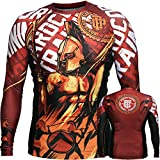 Rashguard Hardcore Training Sparta Red-l MMA BJJ Fitness Grappling Camiseta de compresión