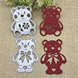 YAOKAIDAN 2 Unids/Set Lively Bear Designs Plantillas de Troqueles de Corte de Metal para Scrapbooking Album Paper Card Craft