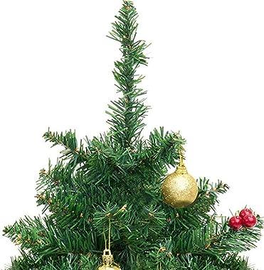 Eksesor Tisch-Weihnachtsbaum, Künstlicher Mini-Weihnachtsbaum, mit LED-Lichterketten,Geschmückter Weihnachtsbaum,für Tisch, S