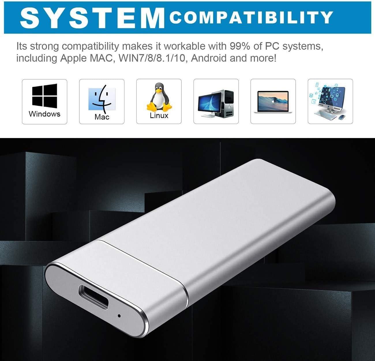 Chromebook Xbox Disco Duro Externo 1tb USB 3.1 Disco Duro Externo para Mac PC,MacBook 1tb, Rojo