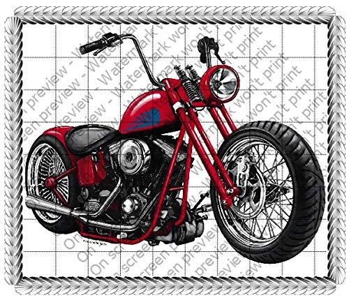 1/4 Sheet - Motorcycle Cake Edible Topper - D136