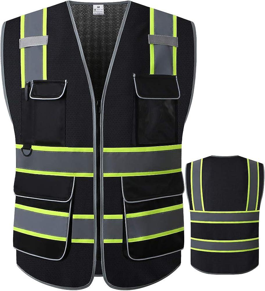 LOHASWORK Very popular Reflective Safety Vest for Men depot Class ANSI 2