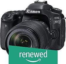 $1040 Get Canon EOS 80D Digital SLR Kit with EF-S 18-135mm f/3.5-5.6 Image Stabilization USM Lens (Black) (Renewed)