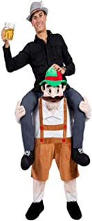 Halloween Carry Mascot Me Beer Guy Ride On Beer Oktoberfest Costume Ride on Costume (Browm)