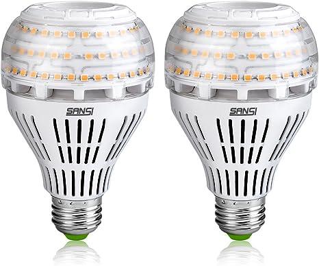 Bombillas LED SANSI de 22 vatios (equivalente a 200 vatios), bombilla de tornillo Edison E27 súper brillante de 3000 lm, blanco cálido suave de 3000 K, paquete de 2