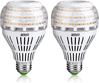 SANSI 22W (200w Equiv.) Soft Warm 3000K LED Bulbs 2-Pack, ETL Listed, Bright 3000lm