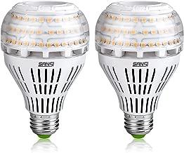 SANSI 22W (200w Equiv.) Soft Warm 3000K LED Bulbs 2-Pack, ETL Listed, Bright 3000lm