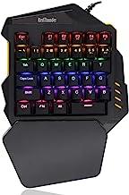 RedThunder One-Handed Mechanical Gaming Keyboard Dustproof Blue Switch LED Backlit Customizable Keys Cool Backlit Portable...