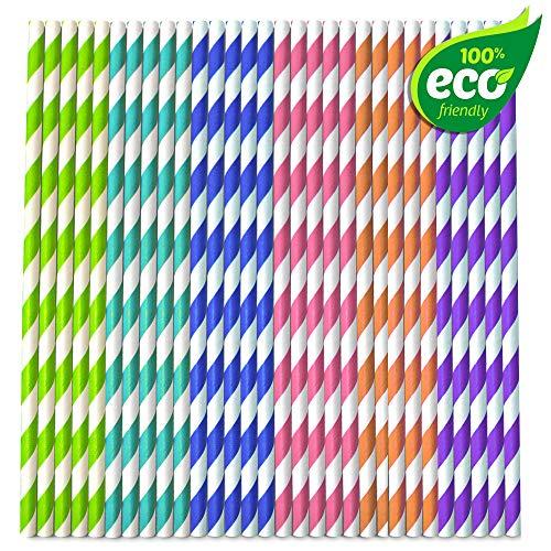 5. Matana - Pajitas de papel resistentes