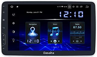 Dasaita 10.2 inch Large Screen Double Din Android 10.0 Car Stereo for Any Vehicle with a Double din Slot Radio with GPS Navigation 4G Ram 64G ROM Built in DSP Dash Kit Meomery Card