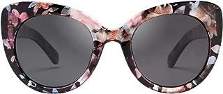 LianSan Women's Oversized Cateyes Polarized Plastic Colored Flower Sunglasses 80720