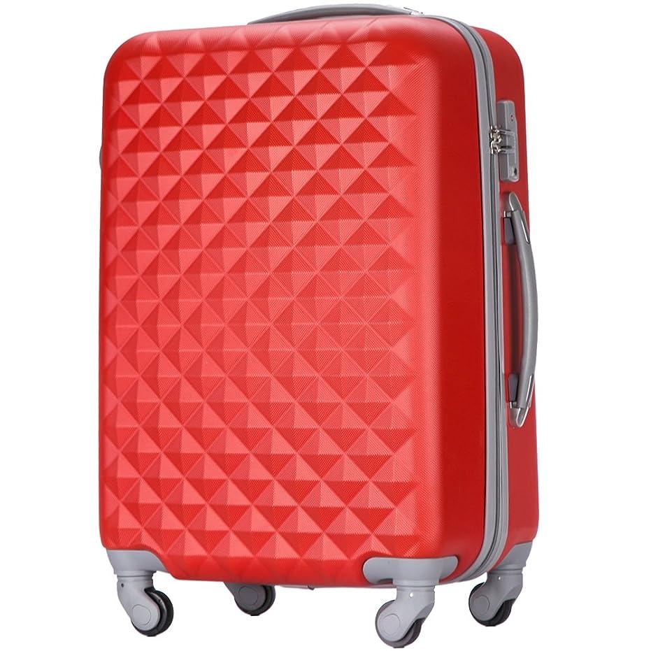 カラス進む蒸し器(トラベルデパート) 超軽量スーツケース TSAロック付 ダイヤ柄