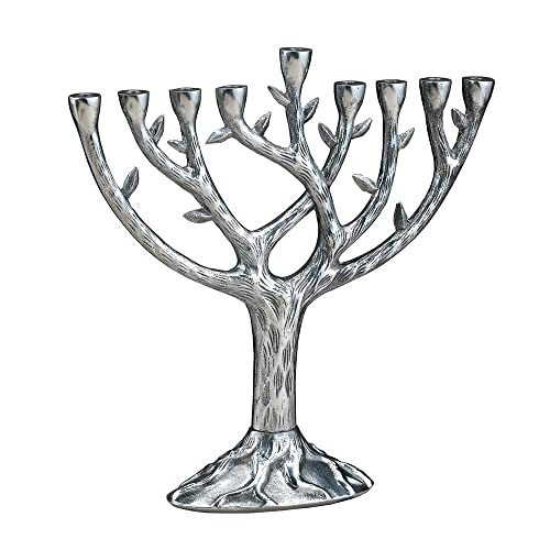 Rite Lite M-TREE-T Large Tree of Life Menorah Silver-Plate With Gold-Tone Cups