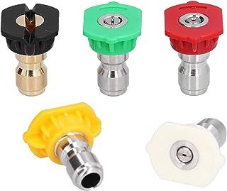 5PCS 1/4in Sproeikop Hogedrukreiniger Spray Wasmachine Sproeikop voor Planten, Gazon & Tuin Water geven