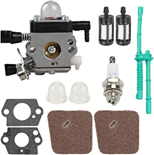 C1Q-S186 Carburetor for STIHL FS38 HL45 HS45 KM55 FC55 FS45 FS46 FS46C FS55 FS55R FS55RC FS45C FS45L FS55C FS55T String Trimmer Weedeater with Tune Up Kit
