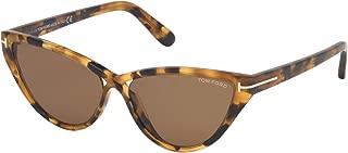CHARLIE-02 FT 0740 BLONDE HAVANA/LIGHT BROWN 56/16/140 women Sunglasses