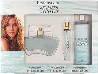 Jennifer Aniston Beachscape for Women 3 Piece Set with Eau de Parfum Spray + Fine Fragrance Mist + Fragrance Pen