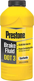 Prestone 12 Ounce AS400 DOT 3 Synthetic Brake Fluid-12 oz