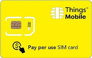 SIM Card a consumo Things Mobile per IoT e M2M con copertura globale e rete multi-operatore GSM/2G/3G/4G LTE, senza costi ...
