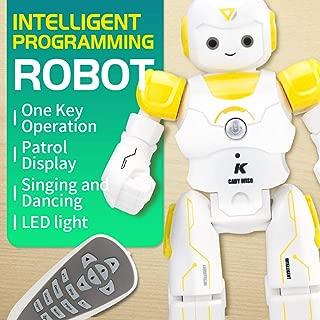 BTG R12 Cady Wiso Smart Remote Control RC Robot, Interactive Walking Singing Dancing, Robotic for Kids Boys Girls, Preschooler Entertainment (R12-Yellow)