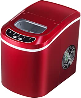 KUPPET Portable Ice Maker Countertop with 26lbs Daily Capacity, 9 Ice Cubes Ready in 8 Minutes,Ice Cube Maker Machine (Red)