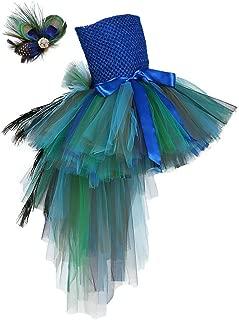 Tutu Dreams Fancy Peacock Feather Girl Pageant Tutu Dress
