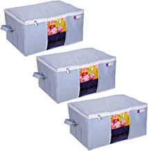 PrettyKrafts Underbed Storage Organizer With Side Handles - Grey,Set Of 3