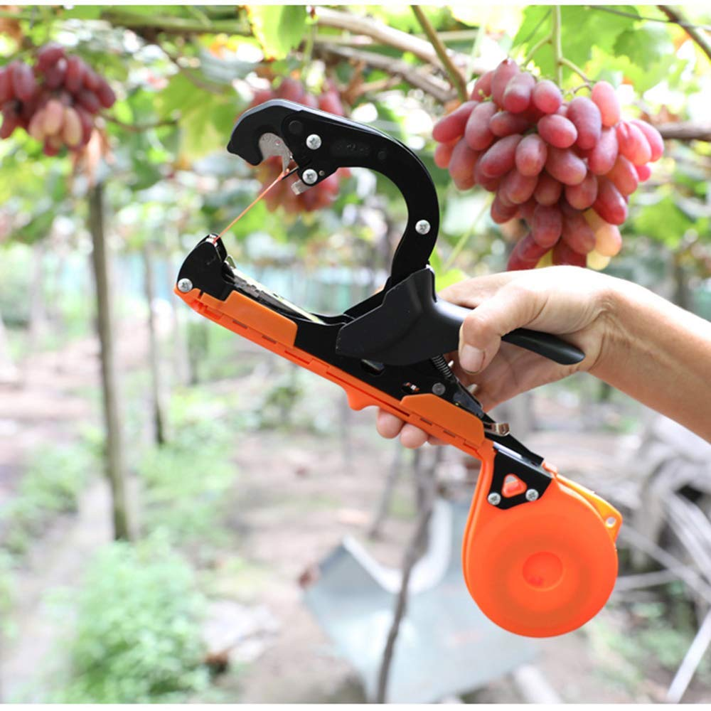 KOQIO Máquina atadora de viñedos, Herramienta Mejorada para Atar Plantas atadora de vides de jardín Máquina de encuadernación Manual para Frutas y Verduras, 10 Cintas y 1 Grapa: Amazon.es: Hogar