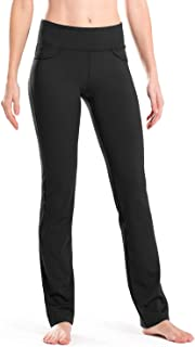 "28""/30""/32""/34"" Inseam Regular/Tall Mid-Waist Straight Leg Yoga Pants, Four Pockets, Non-See-Through"