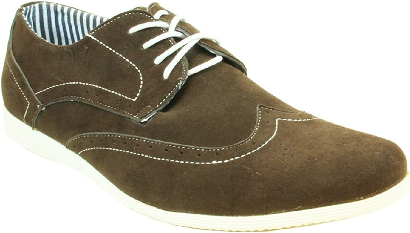 Coronado Men's Casual Shoes Cody-4 Faux Suede Soft Comfort Oxford with a Classic Wing Tip Toe