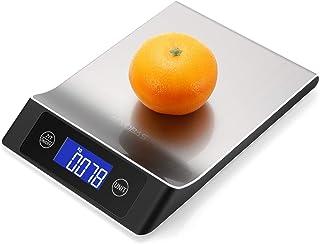 HJTLK Báscula de baño Digital, báscula de Cocina Digital 10 kg / 1 g con función de Tara Báscula de Cocina con Plataforma de Acero Inoxidable Monitor LCD Adecuado