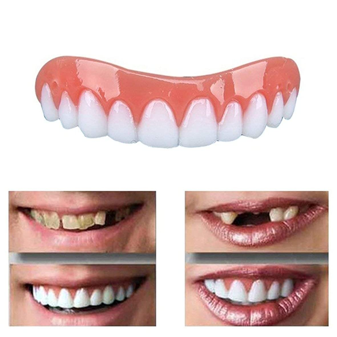 同じ懐写真撮影シリコンホワイトニング義歯パーフェクトスマイルベニア偽の歯上偽の歯カバースナップオン即時の歯化粧品義歯のケアオーラルケア(20個)