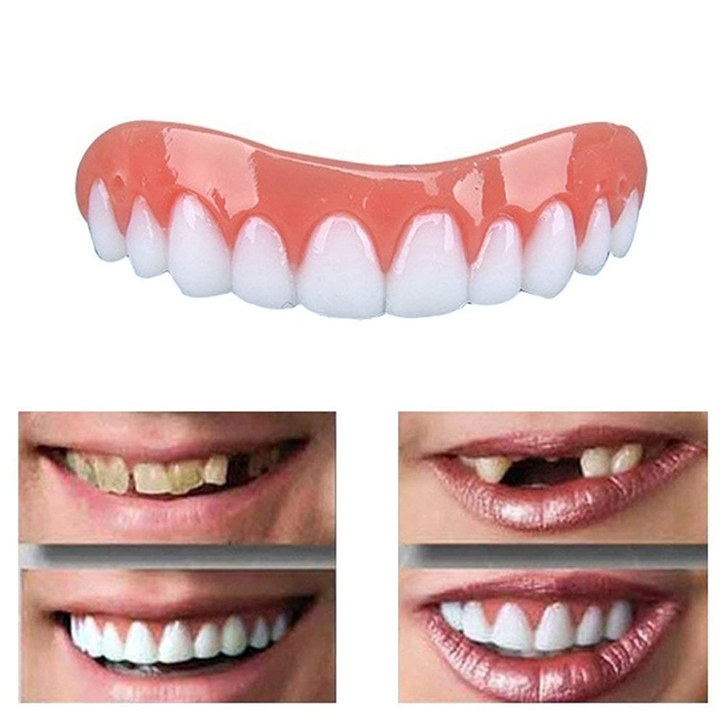 ウールブルーベル殺人者6Pcs安全で即刻の微笑の化粧品の快適で再使用可能な大人の上部義歯