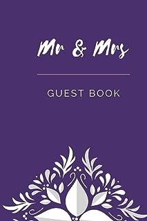 Mr & Mrs Guest Book: Small/Medium A5 Guest Notebook (6