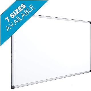 comprar comparacion OFITURIA® Pizarra Blanca Magnética Lacada Con Marco De Aluminio Resistente Fácil De Borrar En Seco, Medida 120x90 cm