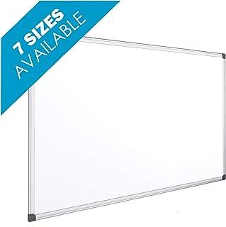 OFITURIA® Pizarra Magnética Blanca Lacada Con Marco De Aluminio Resistente Fácil De Borrar En Seco (1500X1000 MM)
