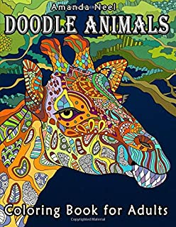 Doodle Animals Coloring Book for Adults