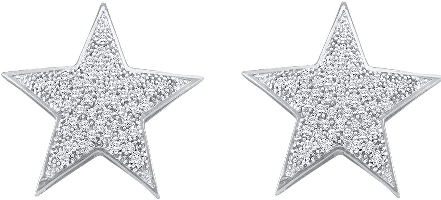 1 4 Total Carat Weight DIAMOND STAR EARRINGS