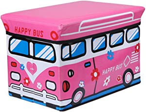 KANGJIABAOBAO Toy Storage Box Storage Basket For Organizing Toy Storage Baby Toys Kids Toys Dog Toys Baby Clothing Children Childrens Toy Box  Color Pink  Size Free size