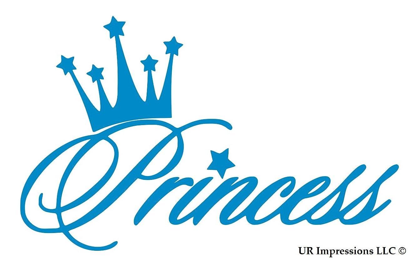 UR Impressions OBlu Princess Crown Decal Vinyl Sticker Graphics for Cars Trucks SUV Vans Walls Windows Laptop|Olympic Blue|5.6 X 3.6 Inch|URI497