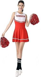 ThreeH Cheerleader Costume Fancy Dress Cheerleading Uniform No Pom-Pom