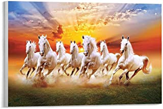 beautiful horses ready to hang canvas wall art horses poster gift horses run gallop in dust photo wall decor horses running artwork print
