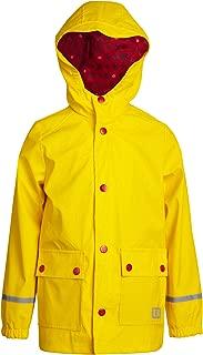 URBAN REPUBLIC Boys' Waterproof Vinyl Hooded Rain Jacket with Reflective Taping