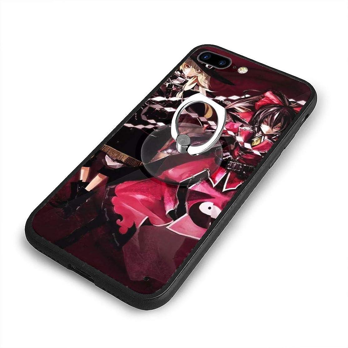 繰り返したコーンウォール雰囲気東方ProjectプロジェクトiPhone 7/8 Plusケースリングブラケット 携帯カバー 創意デザイン軽量 傷つけ防止 360°回転ブラケット 携帯ケース PC 衝撃防止 全面保護