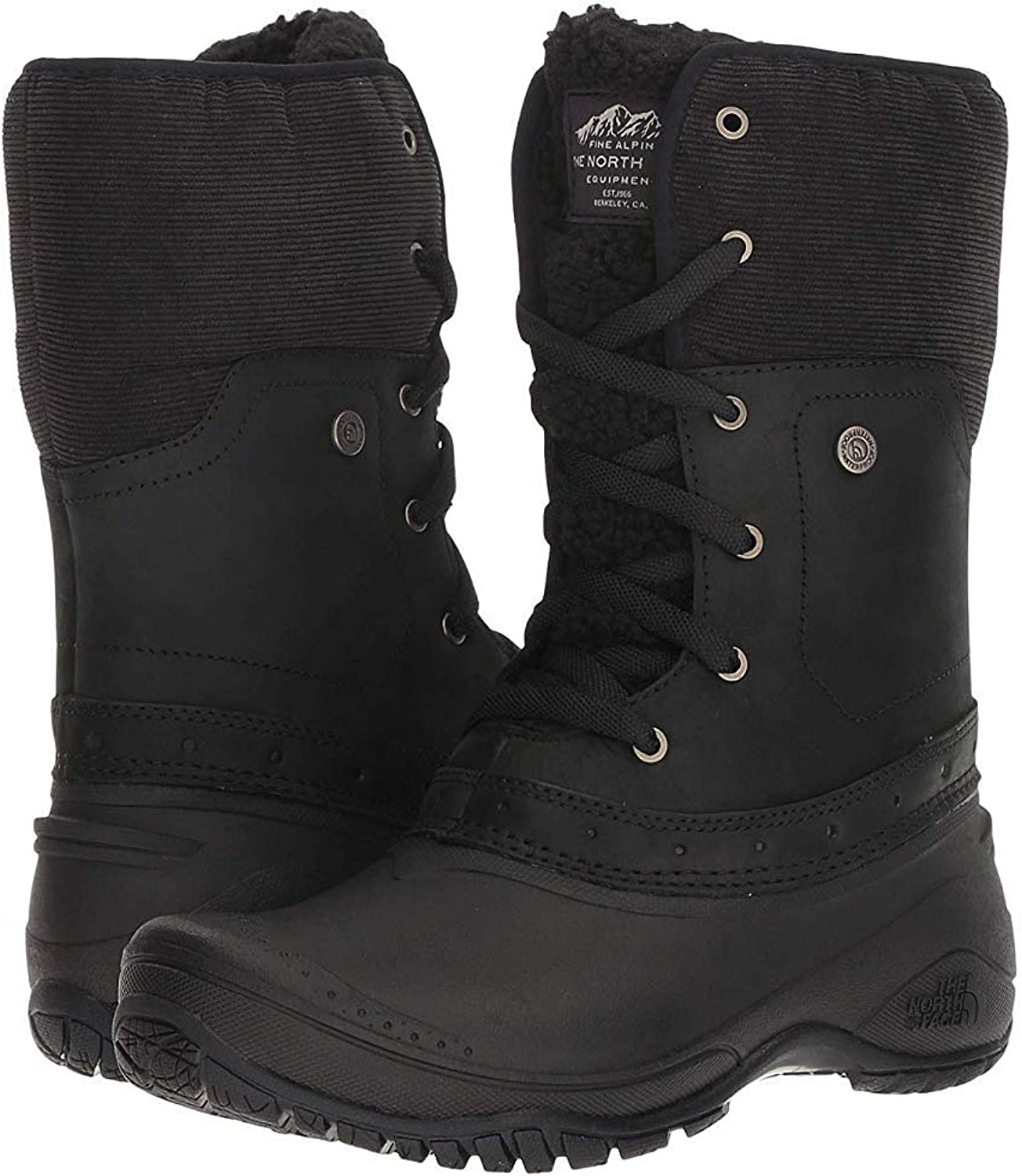 THE NORTH FACE Women's Shellista Roll Down Waterproof Boots TNF Black Weather.
