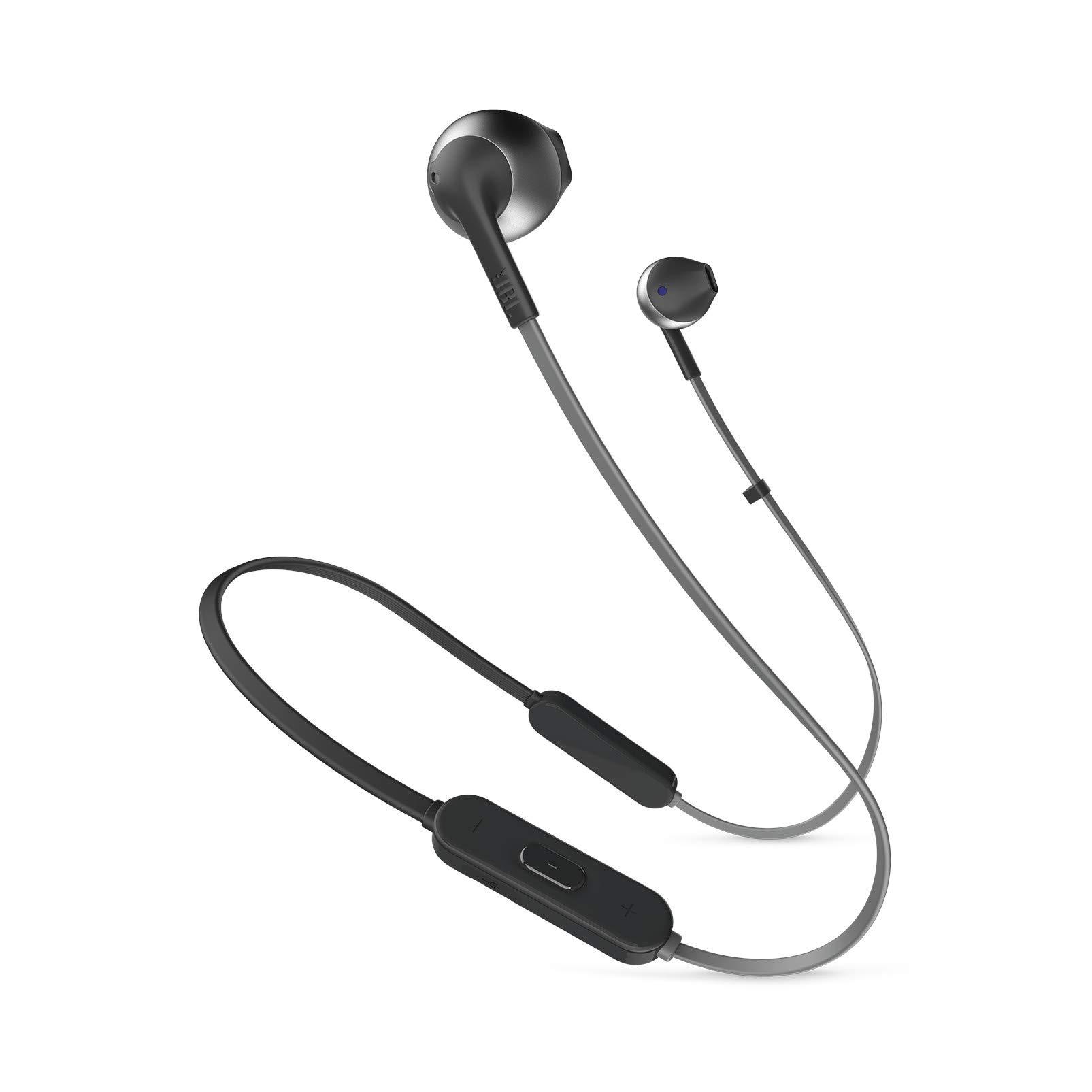 JBL Tune 205BT Wireless Earbud Headphones with Mic (Black)