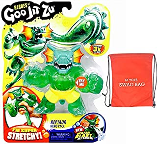 IA INGENIOUS ARTS LLC. QUALITY EXCELLENCE Heroes of Goo JIT Zu - Reptaur Series 2 Action Figure and Bonus: (Exclusive Swag Bag Stuffed with Extra Toys ) for Boys Girls Playtime and Family Fun!